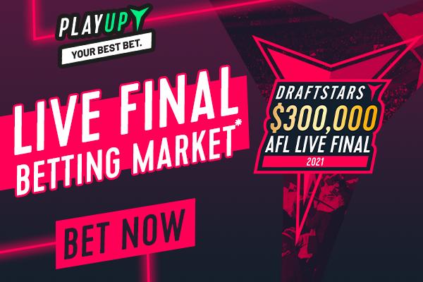 2021 AFL Draftstars $300K Live Final Betting Market