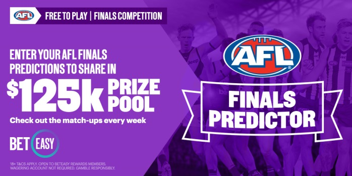 Win a share of $125,000 in BetEasy AFL Finals Predictor!