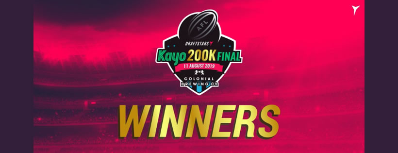 Draftstars Kayo $200,000 Live Final ticket winners from AFL Round 17