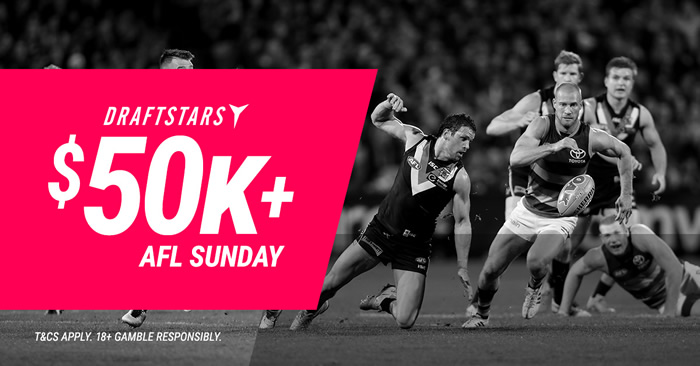 $50,000 Guaranteed AFL Contest at Draftstars this Sunday