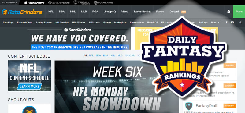 Daily Fantasy Rankings Announces Partnership with RotoGrinders