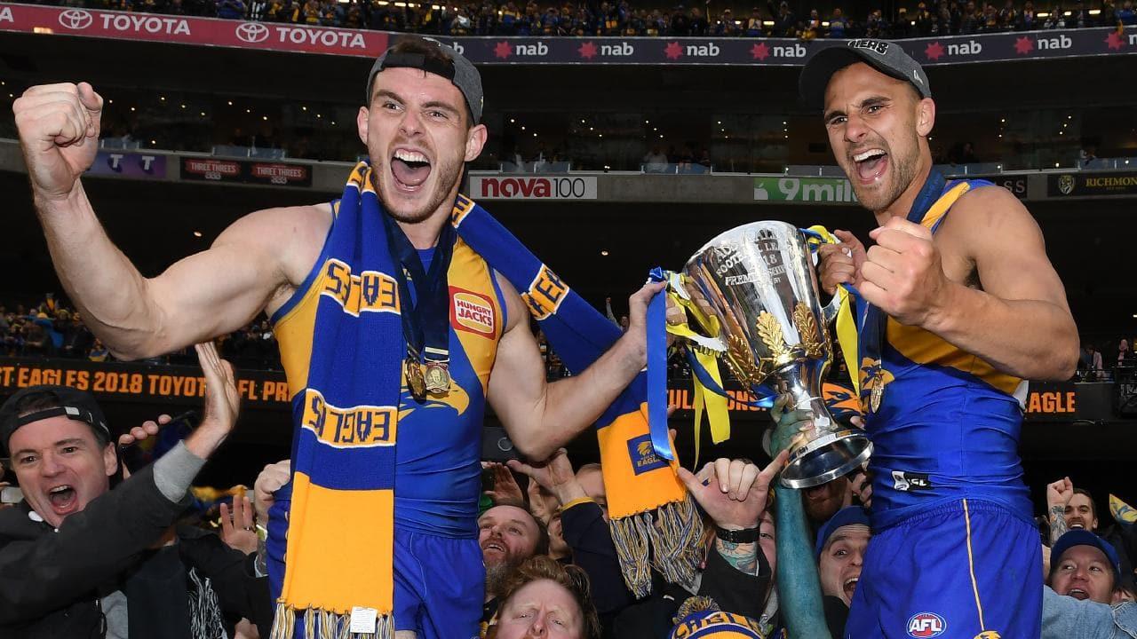 AFL Eagles celebrating