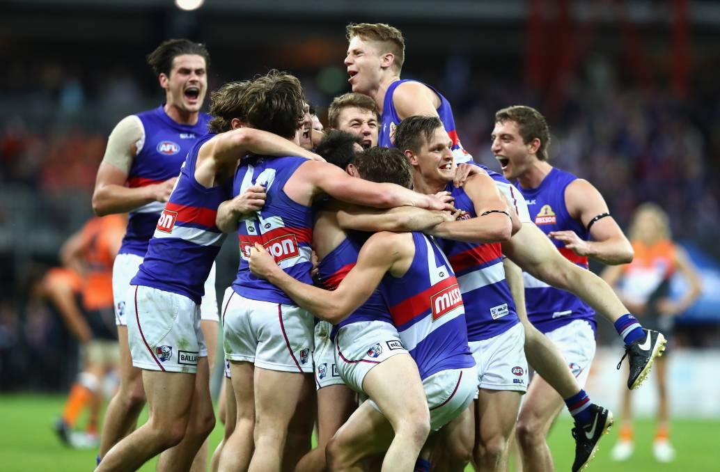 Western Bulldogs celebrating