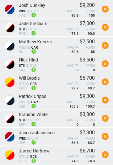 Dragon Suggested Lineup - MoneyBall