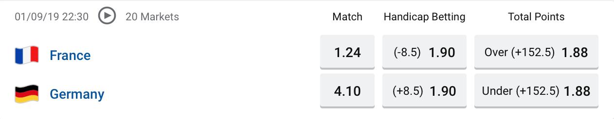 FIBA France vs Germany