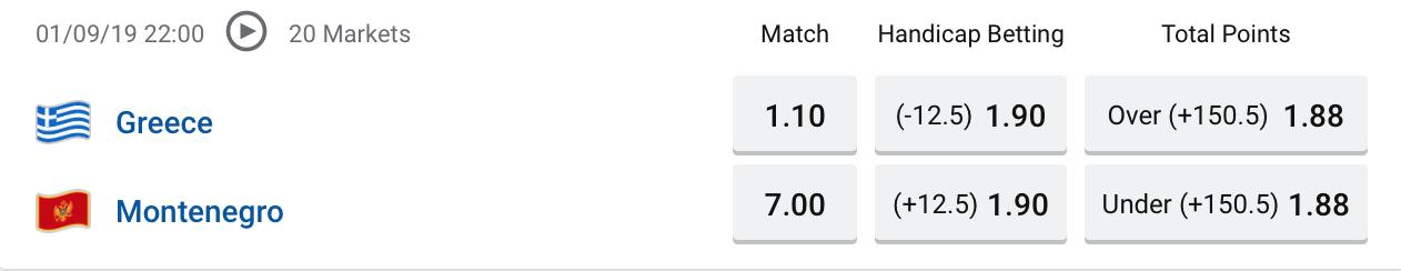 FIBA Greece vs Montenegro