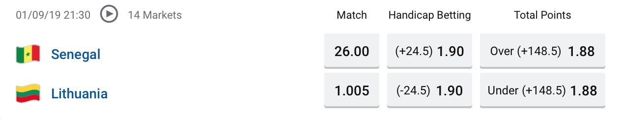 FIBA Senegal vs Lithuania