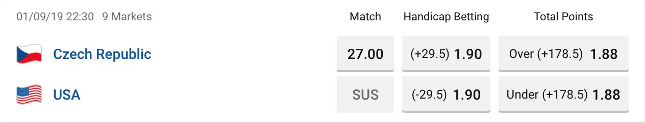 Team USA vs Czech Republics