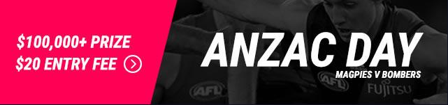 Draftstars Anzac Day $100k contest