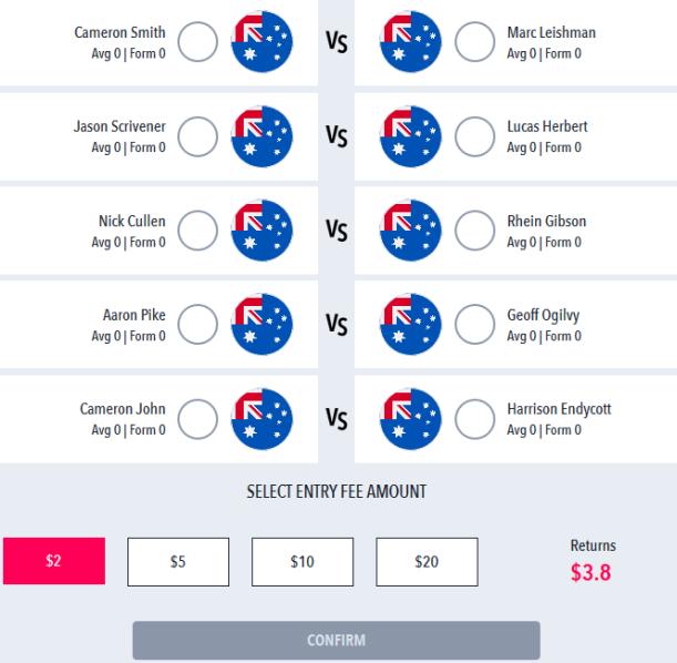 DraftStars RapidFire Golf Australian PGA
