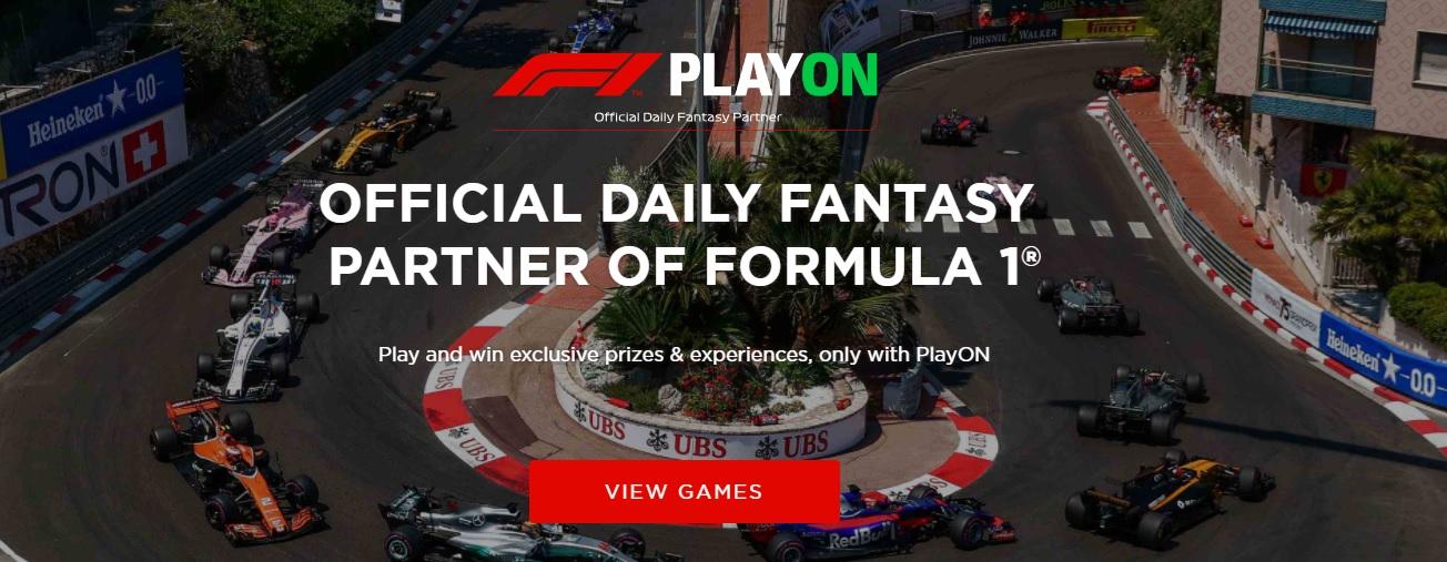 PlayON Formula 1 banner
