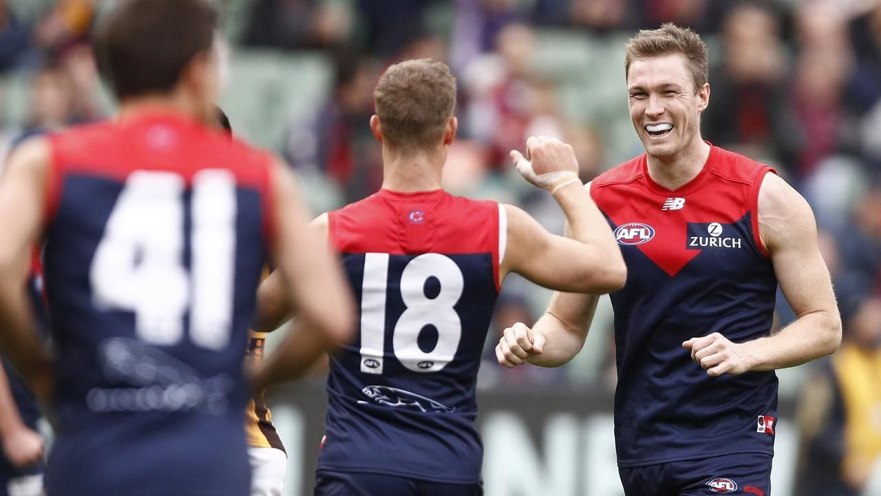 Melbourne Demons celebrating
