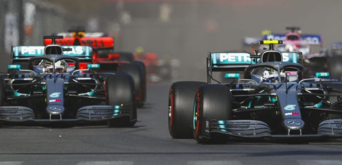 Mercedes F1 Bottas Hamilton