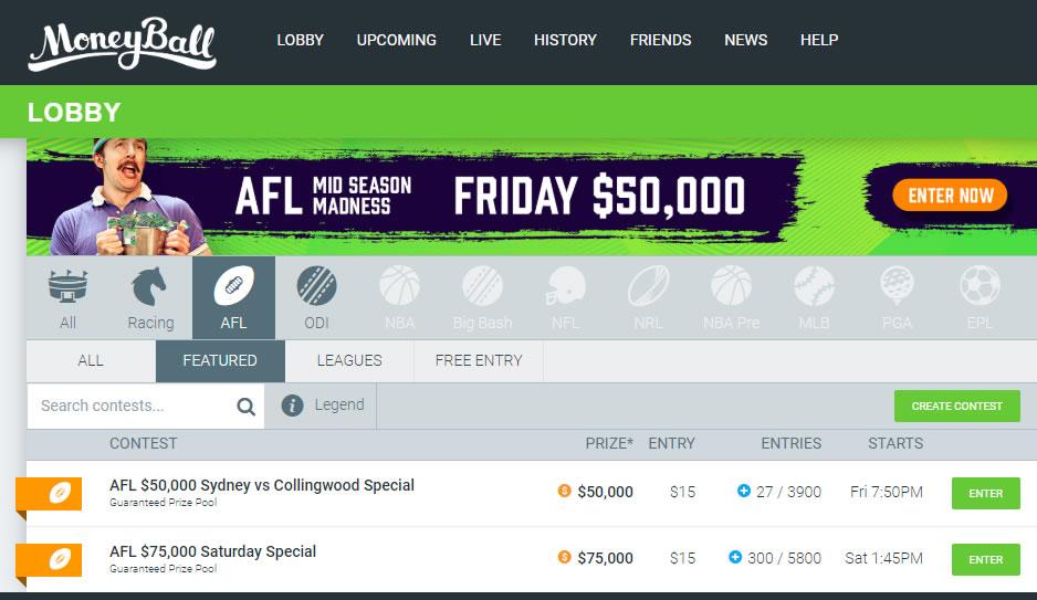 Moneyball AFL Lobby