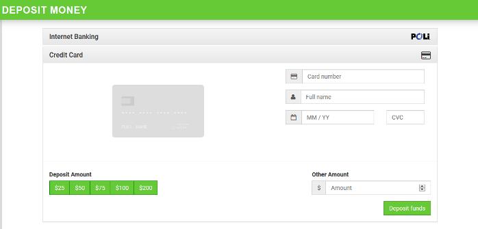 MoneyBall Deposit Screen