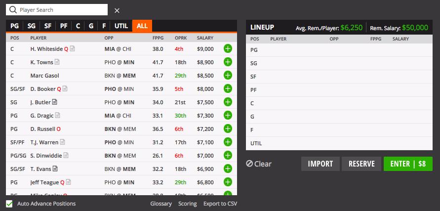 nba screenshot draftkings