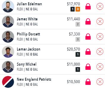 Draftstars lineup