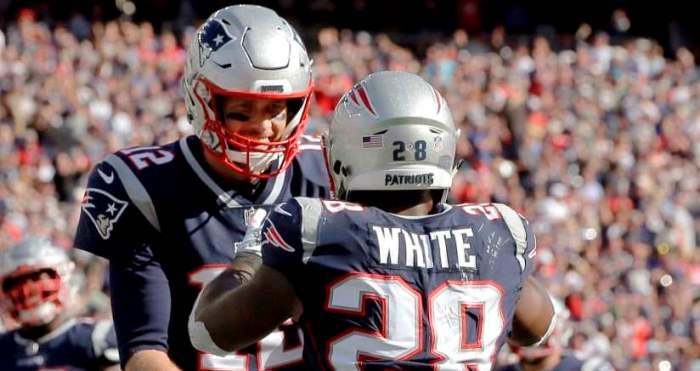 NFL Tom Brady James White