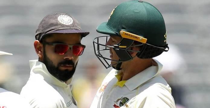Tim Paine Virat Kohli Cricket