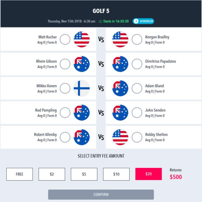 Draftstars Rapid Fire Golf 5
