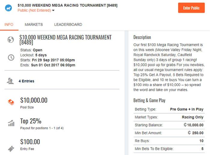 SportChamps $10,000 Mega Racing Tournament